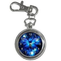 Rare Blue Butterfly Key Chain Pocket Watch Gift model 39158118 - $13.99