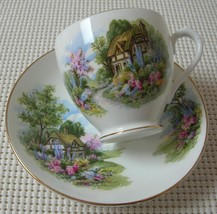 Vintage DUCHESS China CUP & SAUCER Thatched Cot... - $19.38