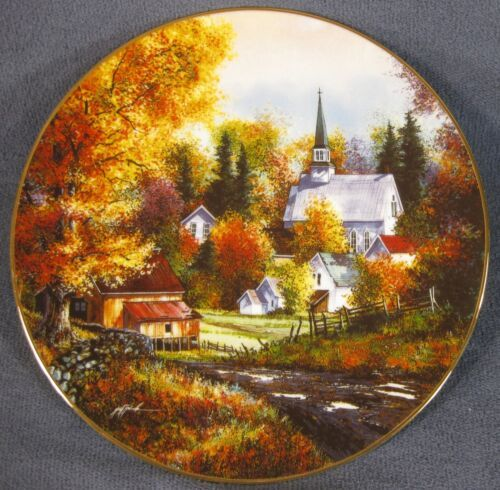 Primary image for Autumn Grandeur Collector Plate Season Of Splendor Kirk Randle 84-K41-153.1