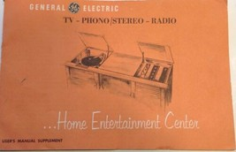 User Manual GE Console TV Radio Stereo Phonograph 1960s General Electric - $4.90