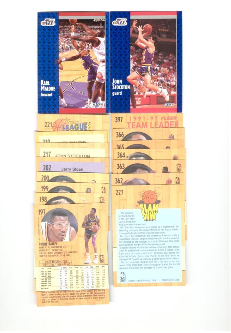 1991/92 Fleer Utah Jazz Basketball Team Set