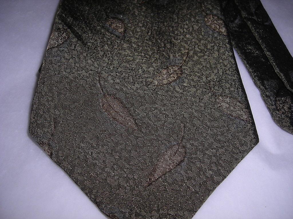 Kenneth Cole Sage Green Leaves Men Neck Tie
