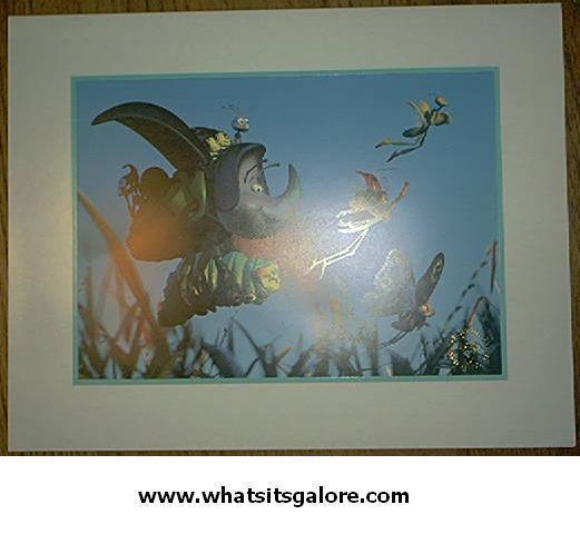 Walt Disney Pixar lithographs A BUG'S LIFE / TOY STORY 1 & 2 - $13.00
