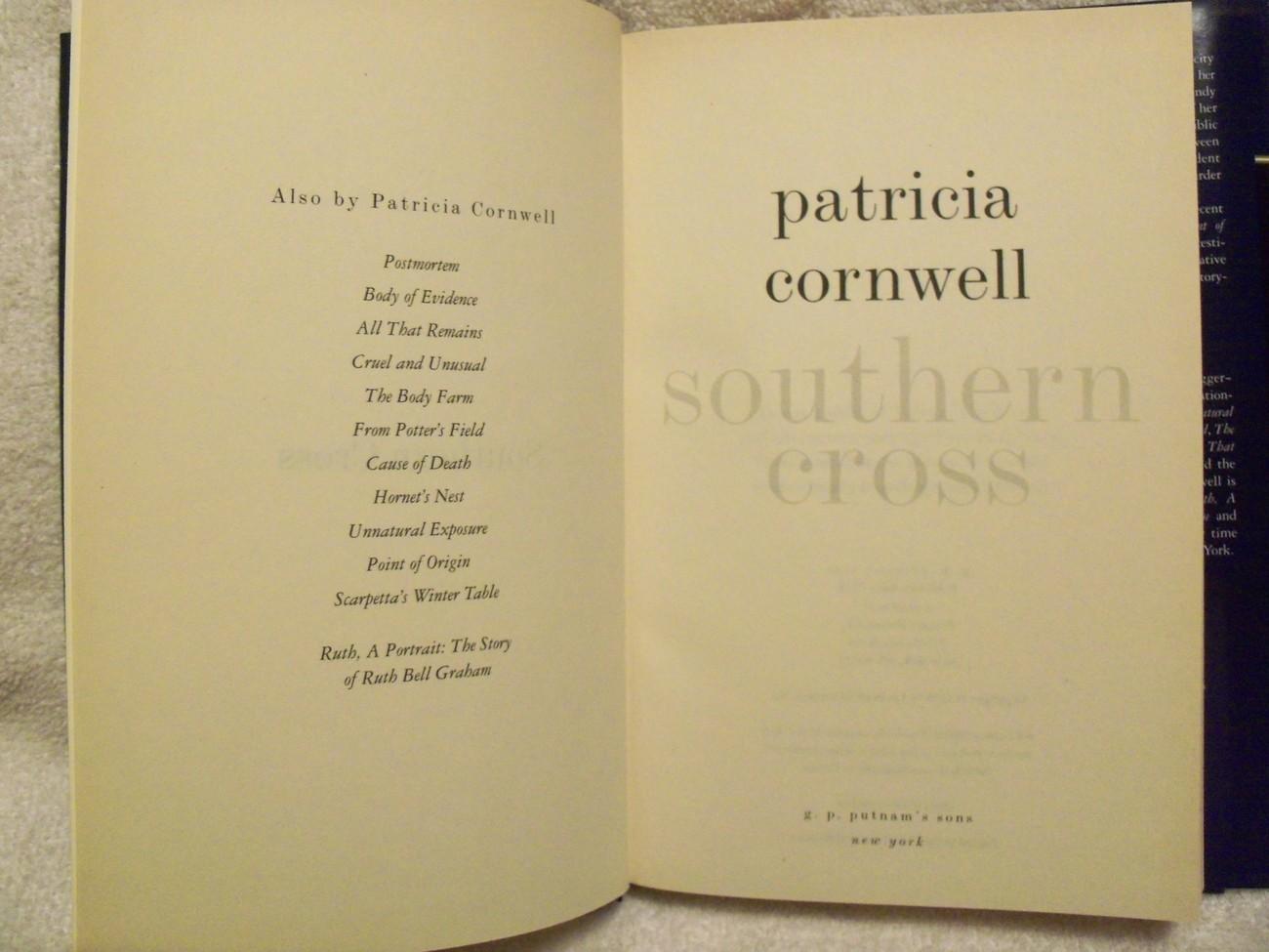 Southern Cross by Patricia Cornwell Judy HammerHB