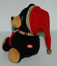 Sterling Inc Shaky Bear Stocking Cap Bells Plays Jingle Bell Rock image 2