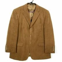 Martina Franca Mens Sz 44S 44 Short Suit Jacket 3 Button Brown Blazer Sp... - $26.67