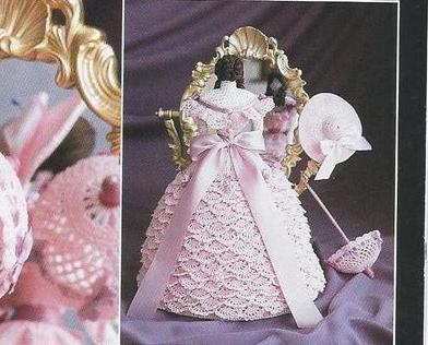 RARE~1850's Southern Belle~Crochet Collector Doll Pattern #5~OOP~HTF