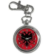 Albania Albanian Flag Country Key Chain Pocket Watch Gift model 39159121 - $13.99
