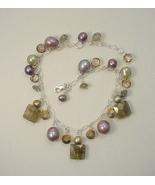 Gem Cluster Sterling Silver Bracelet with Labra... - $75.00