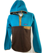 Vintage Patagonia Synchilla 2 Toned Fleece T-Snap, Men's M, Turquoise/Brown - $94.99