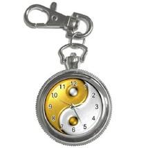 Gold Yin Yang Sign Key Chain Pocket Watch Gift model 26383493 - $13.99