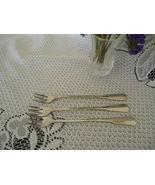 "1987 Pattern ""Allegian""Distinction Deluxe Stainless 3 Cocktail Forks  On... - $15.00"