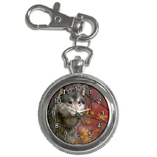 Majestic Wolf Key Chain Pocket Watch Gift model 39158438