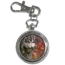 Majestic Wolf Key Chain Pocket Watch Gift model 39158438 - $13.99