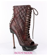 Hades Metropolis IXX Steampunk Vintage Lace Up Ankle Bootie Boots Sizes ... - $149.99