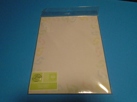 50 Sheets Gartner Studios Baby Feet Stationary Paper Announcement Invite... - $9.99+
