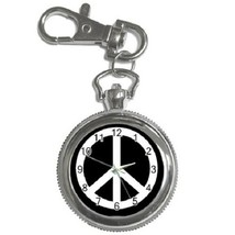 Peace Sign Key Chain Pocket Watch Gift model 17740981 - $13.99