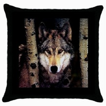 Throw Pillow Case Decorative Cushion Cover Wolf Gift model 30522485 - £12.97 GBP