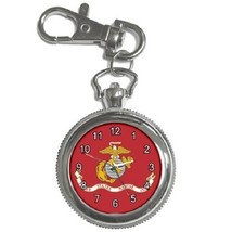 US Marine Corps Flag Key Chain Pocket Watch Gift model 22566388 - $13.99
