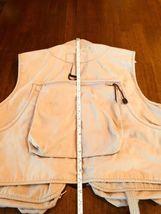 WFS KHAKI Beige fishing vest Size L 60% Cotton 40% Poly #186 image 8