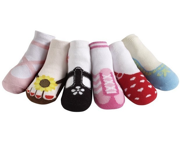 Primary image for Jazzy Toes Hamptons Variety Socks for Girls 6 Pair 12-24M