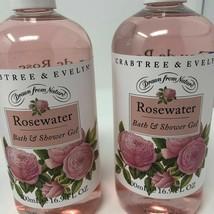 (Lot of 2) Crabtree & Evelyn ROSEWATER BATH & SHOWER GEL - 16.9 fl oz ea... - $39.55