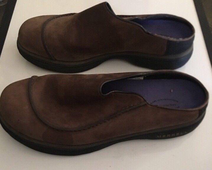 Mens MERRELL Brown Topo Wave Slide Suede Slip on Mocs Clogs Shoes sz 11 M image 6