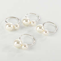 Fennco Styles Elegant Faux Pearl Napkin Ring - Set of 4 - $30.99