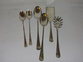 Lot of Silverplate Vtg Salad Serving Set Cake Slotted Spoon Italy International - $12.54