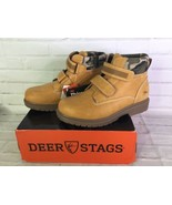 Deer Stags Youth Boys Size 3 Marker Boots Wheat Tan Camo Insulated Water... - $27.71