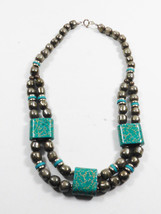 Statement Handcrafted Made In Japan Oriental Ceramic Beads Necklace - $35.64