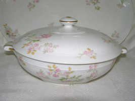ANTIQUE HAVILAND 3-PIECE COVERED VEGETABLE DISH+MATCHING PLATTER-MARKED-... - $14.85