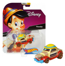 Hot Wheels Disney Pinocchio Character Cars Series 2 4/6 Mint on Card - $11.88