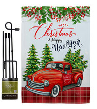 Christmas Happy New Year - Impressions Decorative Metal Garden Pole Flag... - $27.97