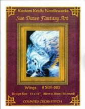 "Counted Cross Stitch Pattern-WINGS-Sue Dawe Fantasy Art  11"" x 14"" - $9.46"
