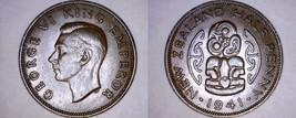 1941 New Zealand Half 1/2 Penny World Coin - $11.75