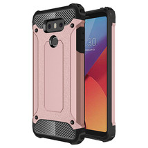 LG G6 Armor Hybrid Dual Layer Shockproof Touch Case Cover - $12.99