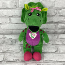 Fisher Price Barney Buddies Baby Bop Soft Plush Toy Triceratops 12 Inch Green  - $14.49