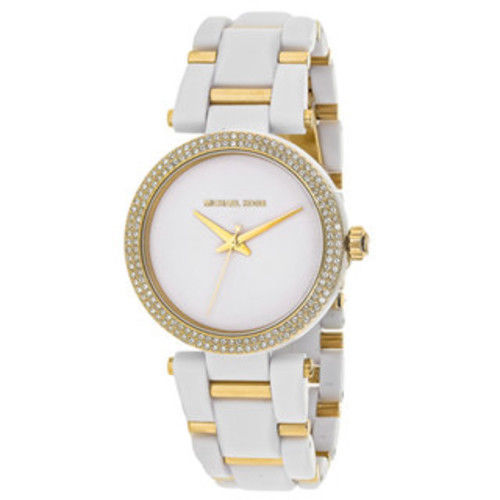 b3b1f7c0cb46 Michael Kors MK4315 Delray Pave White and and 50 similar items