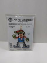 NMI Pin Pal Ornament Needlepoint Kit Christmas Boy Skater 5616 - $11.75