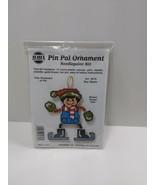NMI Pin Pal Ornament Needlepoint Kit Christmas Boy Skater 5616 - $11.75