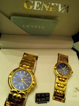 GENEVA COLLECTION Man's And Woman's Wristwatch Set New In Box MSRP 249.00 - $57.41