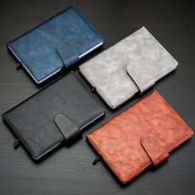 Retro Vintage Journal Diary Office Business Notebook Leather A5 Line Sof... - $27.49