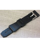 22mm Rubber Plastic Watch Band Black Replacement Fits Casio Databank - $7.59