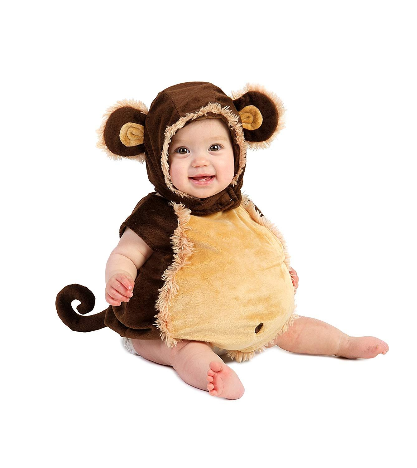 Princess Paradise Baby's Deluxe Melvin the Monkey Costume,Brown/Beige 6-12 Month