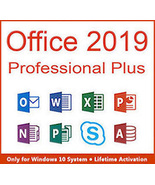 Microsoft Office 2019 Professional Plus Key & Download 32/64 Bit - $201,39 MXN