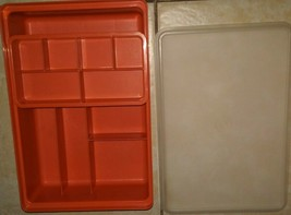 Tupperware Orange Compartment With Lid Tuppercraft Hobby Organizer Sewing Crafts - $19.79