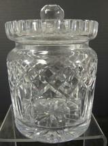 Waterford Irish Crystal Biscuit Barrel * Lismore Pattern - $71.24