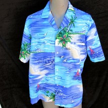 Vtg Royal Creations Aloha Shirt Size Large Diamond Head Outrigger Welt P... - $45.99