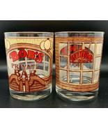 BOB'S  Private Bar 60s Tumbler Rocks Highball Glass Vintage Christmas Gift - $11.88